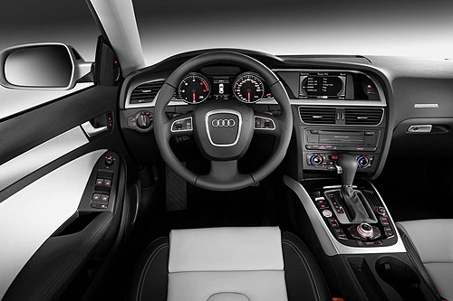 The driver's controls for the new Audi A5 Sportback