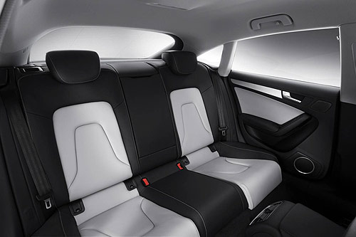 The rear seats in the Audi A5 Sportback