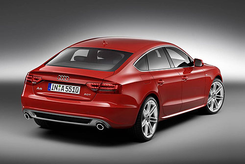 The rear of the new Audi A5 Sportback